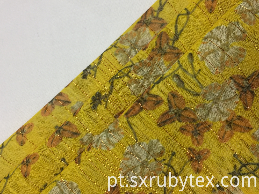 Silver Lurex Print Fabric