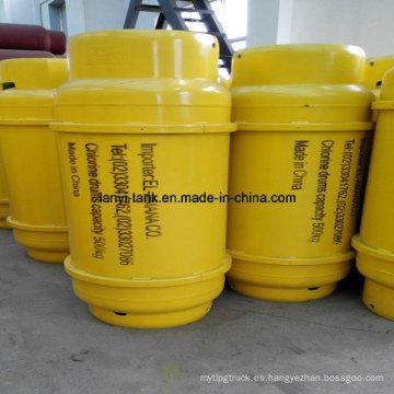 Cilindro de Gas de cloro de alta calidad con válvulas de