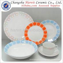 Juego de cena de porcelana turca