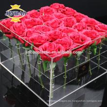 Jinbao crystal regalo decoración acrílico marco calendario caja de zapatos bastidores de visualización