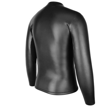 Seaskin Chest Zip Black Neopren Neoprenanzug Top