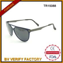 Nouvelles lunettes de soleil Tr90 avec Metal Temples, polarisé verres