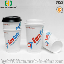 Double Wall Hot Coffee Paper Cup with Lid