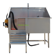 Veterinary 304 stainless steel pet medical bath sink with mobile door and blower
