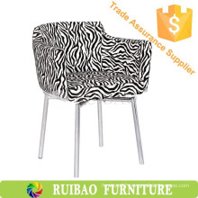 Personality Zebra-Stripe Fabric Upholstery Chair Alibaba Bar Chairs For KTV/Coffee Shop/Room Furniture