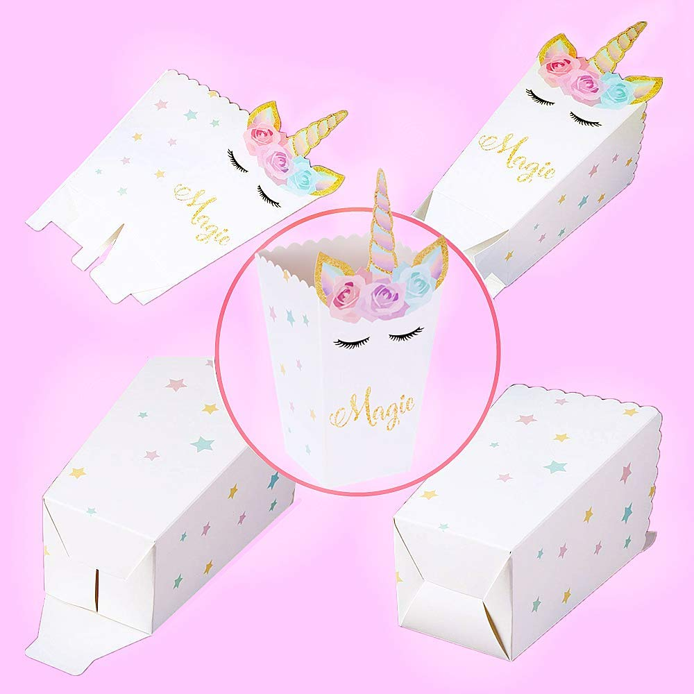 12 Unicorn Party Favor Boxes Set 2