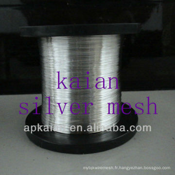 Vente chaude 0.05-8mm diamètre de fil pur fil d'argent (30 ans d'usine)