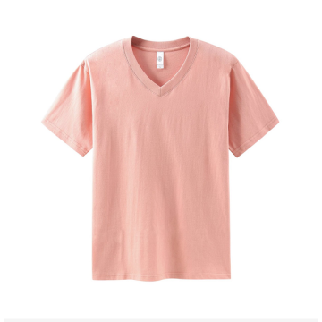 Camisetas masculinas femininas unissex de algodão com gola VEE