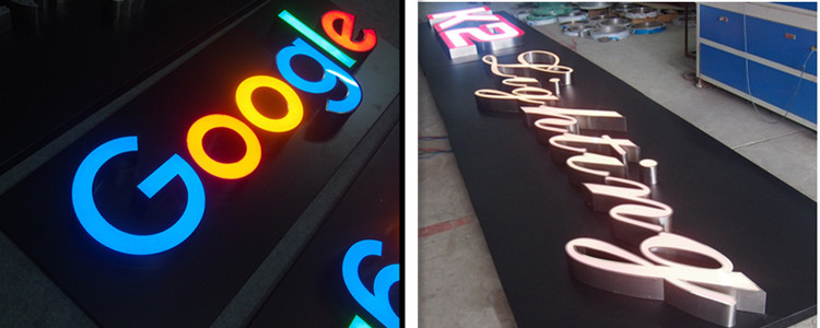 custom led logo sign