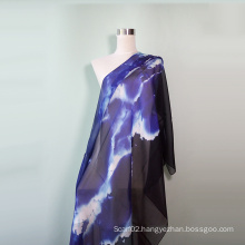 Evening Glow Blue Silk Scarf