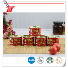 Fine Tom Brand Tinned Sour y Sweet Flavor Tomato Paste