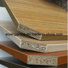 Toda a grão de madeira grossa Melamine Faced Particle Board / aglomerado para Lipping