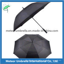 Calidad Automática Abierto de fibra de vidrio recto de paraguas de golf