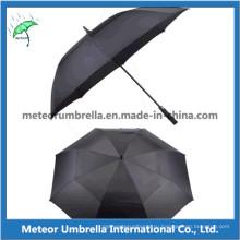 Качественный автоматический открытый прямой зонт для гольфа из стекловолокна
