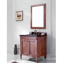 Wooden One Main Cabinet Mirrored Modern Bathroom Cabinet (JN-8819715A)