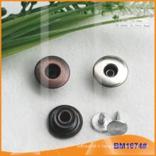 Bouton en métal, boutons personnalisés Jean BM1674