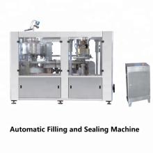 Prensa de alimentação de folhas totalmente automática Fácil operação Máquina de enchimento e selagem de lata de cerveja