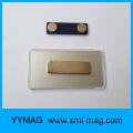 Blank rechteckigen Kunststoff magnetischen Namen Abzeichen