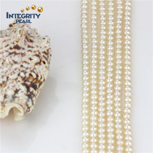 AAA-5mm Round Pearl Strand Eau douce Natural White Pearl Strand