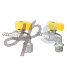 robinet à tournant sphérique de gaz en laiton (type d'angle)