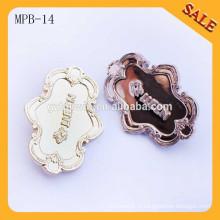 MPB14 Badge personnalisé en métal à broche avec badge métallique; Emblème en laiton
