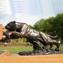 animal metal bronze jardim metal ofício em tamanho real bronze tigre estátua