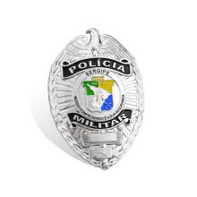 Silver Plating Police Badge Custom Army Badge (GZHY-BADGE-010)