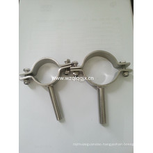 Sanitary Stainless Steel DIN Round Pipe Holder with Rod