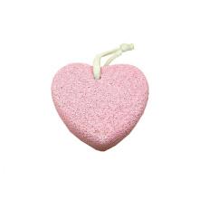 Professional Foot Callus Pink Heart Shape Lava Pumice Stone
