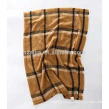 Fashion faux cashmere women acrylic plaid long pashmina lady scarf