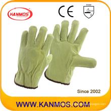 Industrial Safety Pig Split Driver Leather Work Gloves (21201)