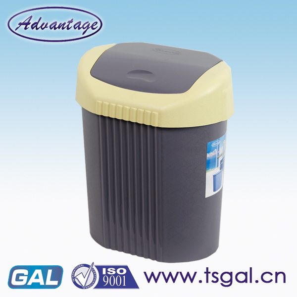 Plastic pail swing lid garbage can