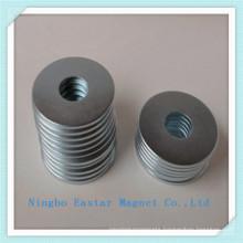 N45 Neodymium Ring Magnet with Zinc Coating