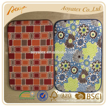 Check printed and flower printed dish drying mat for kitchen use