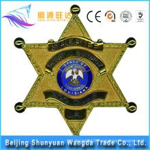China Manufacture Offer Metal Star Sharped Custom Pin Badge