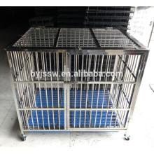 Jaula fuerte de la perrera del perro del acero inoxidable al por mayor (entrega rápida)
