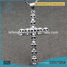 2016 great quality punk jewelry stainless steel cross design pendants for boys