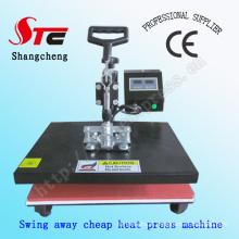 Simples cabeça tremendo calor imprensa máquina C t-shirt calor imprensa máquina da transferência térmica