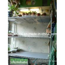 Adjustable Powder Coating Greenhouse Storage Shelving Rack with PP Mat
