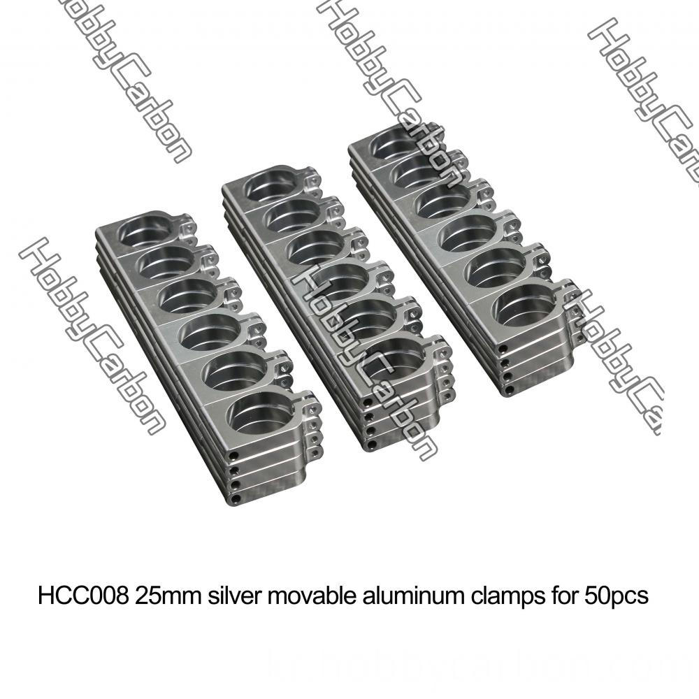 25mm Silver Tube Clamps