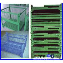 Складная складная складская металлическая проволочная сетка / контейнер для продажи