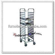 S072 Montagem de trolley de panela GN de aço inoxidável de um lado mais alto
