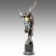 Estatua grande Ángulos Estatua Decoración Bronce Escultura Tpls-026