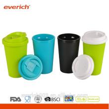 Double paroi PP isolé Tasses en plastique pour café 400ml