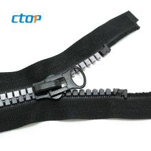 factory reasonable price open end long chain custom plastic garments accessories zipper plastic zipper zippers for handbags