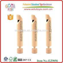 Mini jouet en bois de sifflet naturel Jouet musical en bois populaire pour enfants
