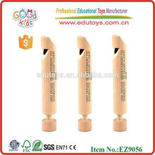 Wooden Mini Natural Whistle Toy Popular Wooden Musical Toy for Kids