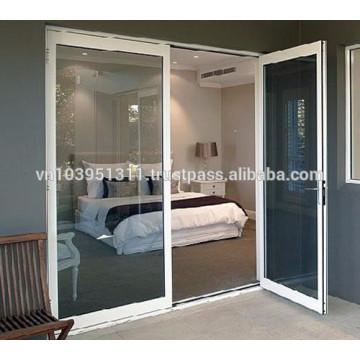 High quality exterior or interior plastic glass door design / aluminium door prices