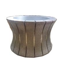 150mm galvanizado 2 na roda de moedura 1marble roda de polimento de pedra de diamante