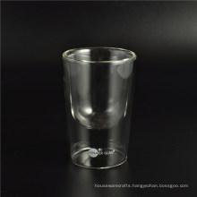 Eco-Friendly Borosilicate Handmade Glass Double Wall Cup